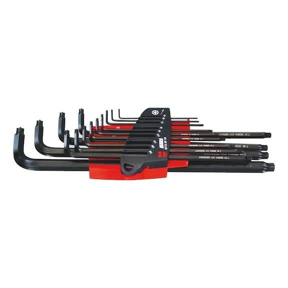 Kit de clés mâles 6pans  TX - JEU CLES MALES TX AV. RESSORT