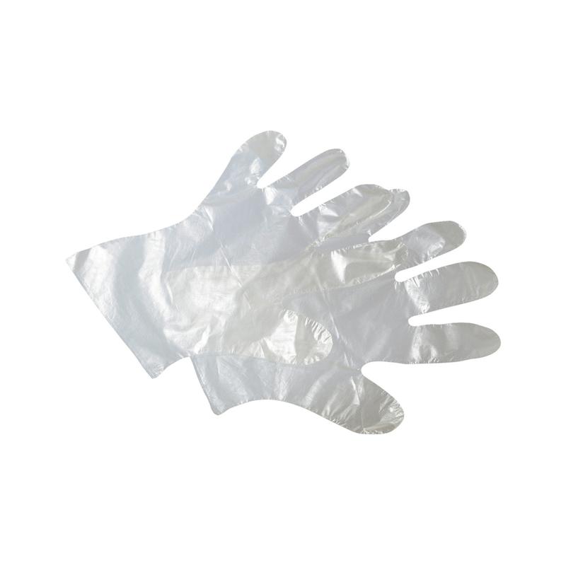 Single-use polyethylene glove - PROTGLOV-PE-CLEAR-DISPOSABLE-M