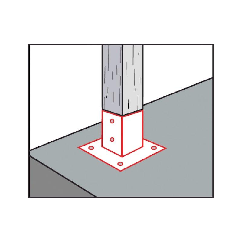 Portapilastro quadrato - 3