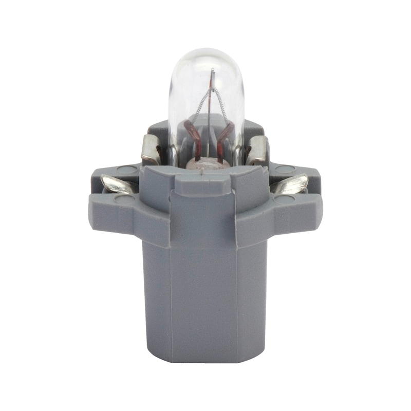 Kunststoffsockellampe - LAMP-STAUBGRAU-(B8,3D)-24V-1,2W
