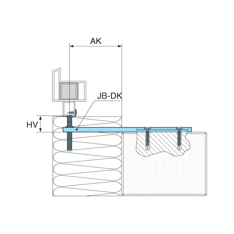 Window installation bracket with height adjustment bracket JB-DK - 3