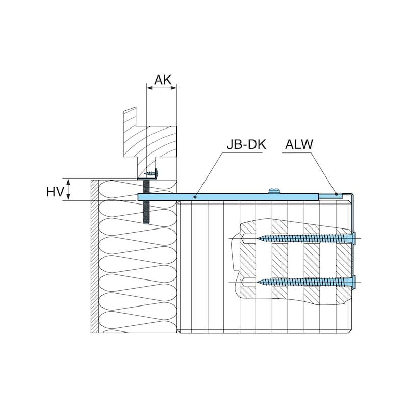 Fenstermontagekonsole mit Höhenverstellungsplatte JB-DK - 3
