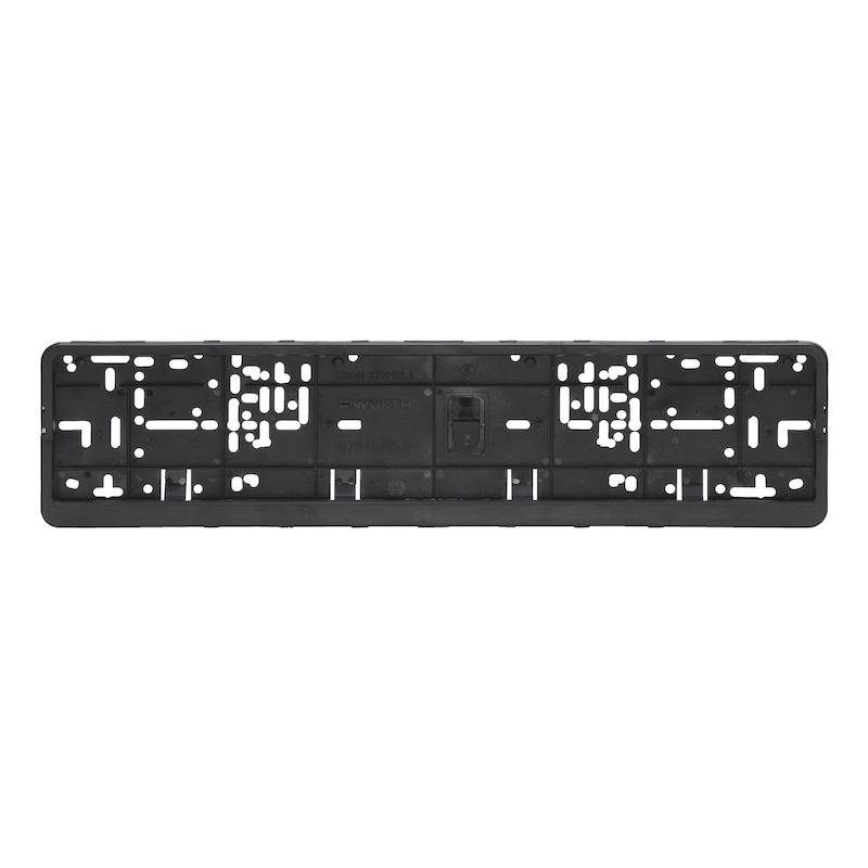 Unprinted Klapp-Fix number plate holder