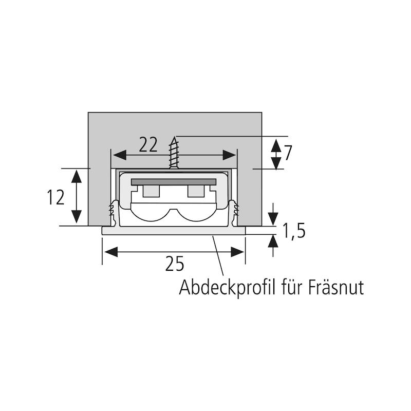 Abdeckprofil für Fräsnut - 3