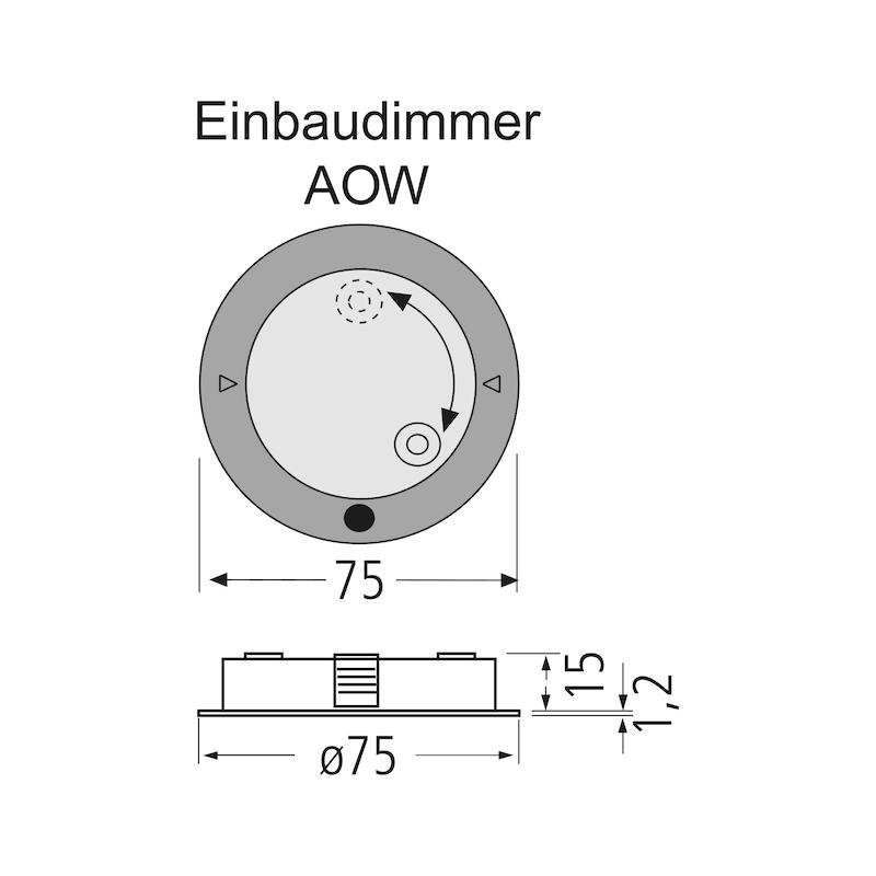 Einbaudimmer AOW - SCHALT-EL-DIMMER-EINBAU-AOW-VA-DIM1