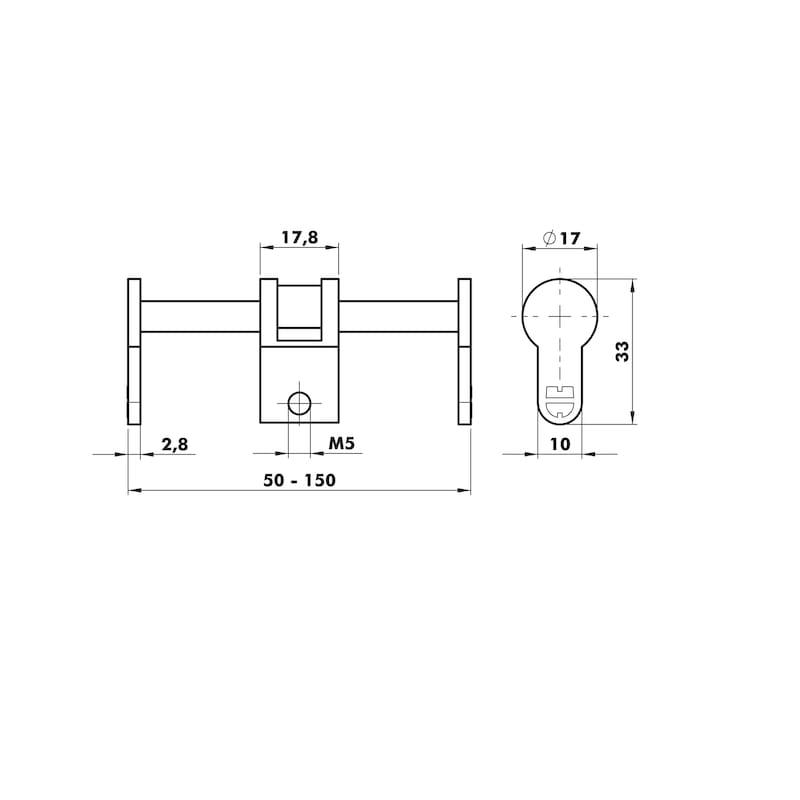 Profile universal blind cylinder - 2