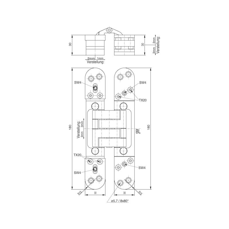 Türband VLB 100 3-D IHV - EINFRSBA-VLB100-3D-IHV-BAND(A2/MATT-O)