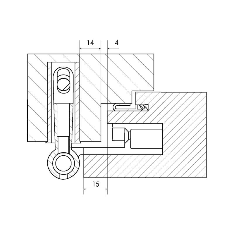 Distanzplatte  Für Insert 3-D Band - ZB-DISTANZPL-EINFRSBA3D-R9016-WEISS