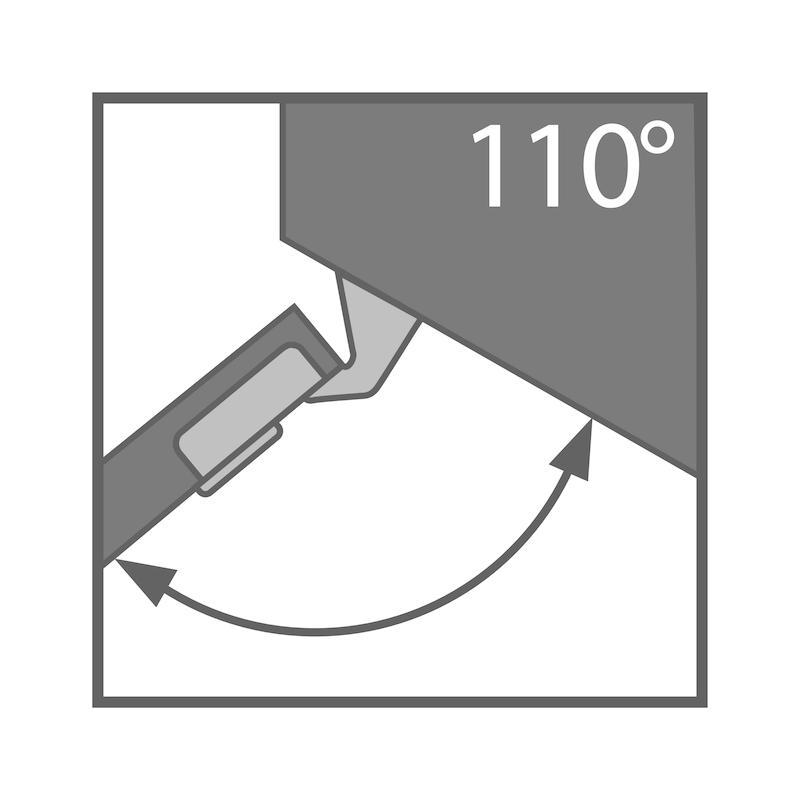 Charnière invisible, TIOMOS Click-on 110/30 A TIOMOS 110/30 A - 4