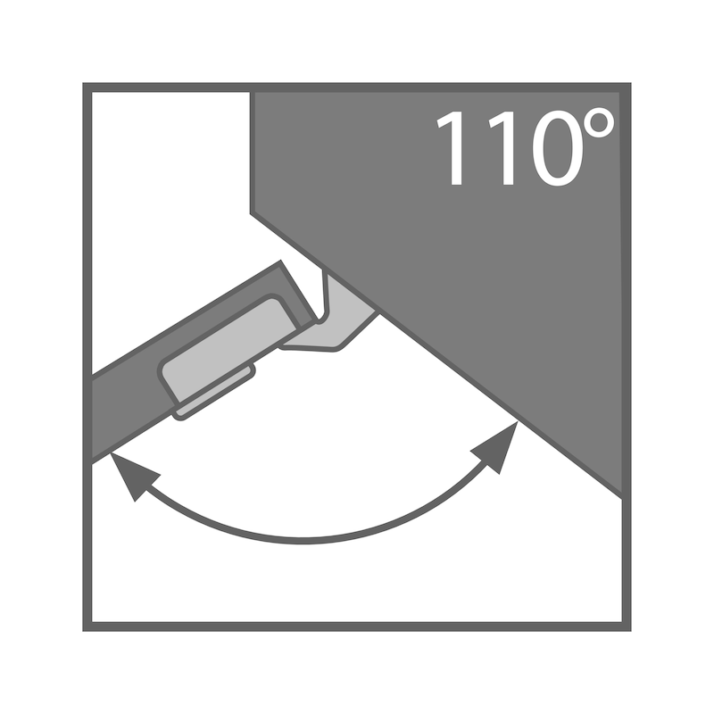 Topfscharnier TIOMOS Click-on 110 / 37 E - SHAN-TS-CLICKON-110-37-H-BB-ELGND