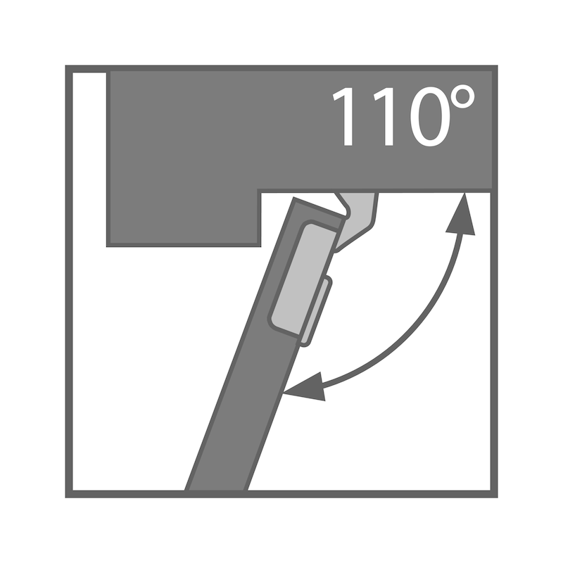Concealed cabinet hinge, TIOMOS click-on 110/90 E - 4