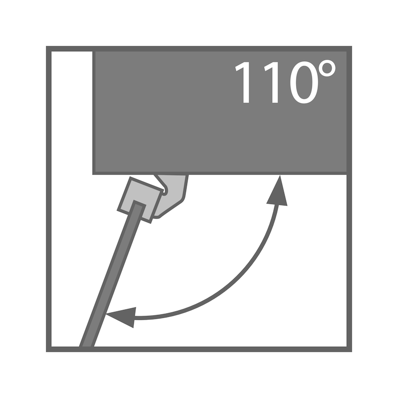Profilrahmenscharnier TIOMOS Click-on 110 AL - 2
