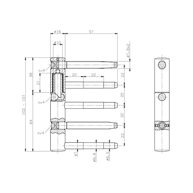 3-D Band Ø16 mm - 2