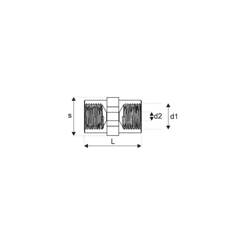 ブレーキパイプエクステンション、 タイプODD - ブレーキフィッティング M10XP1.0