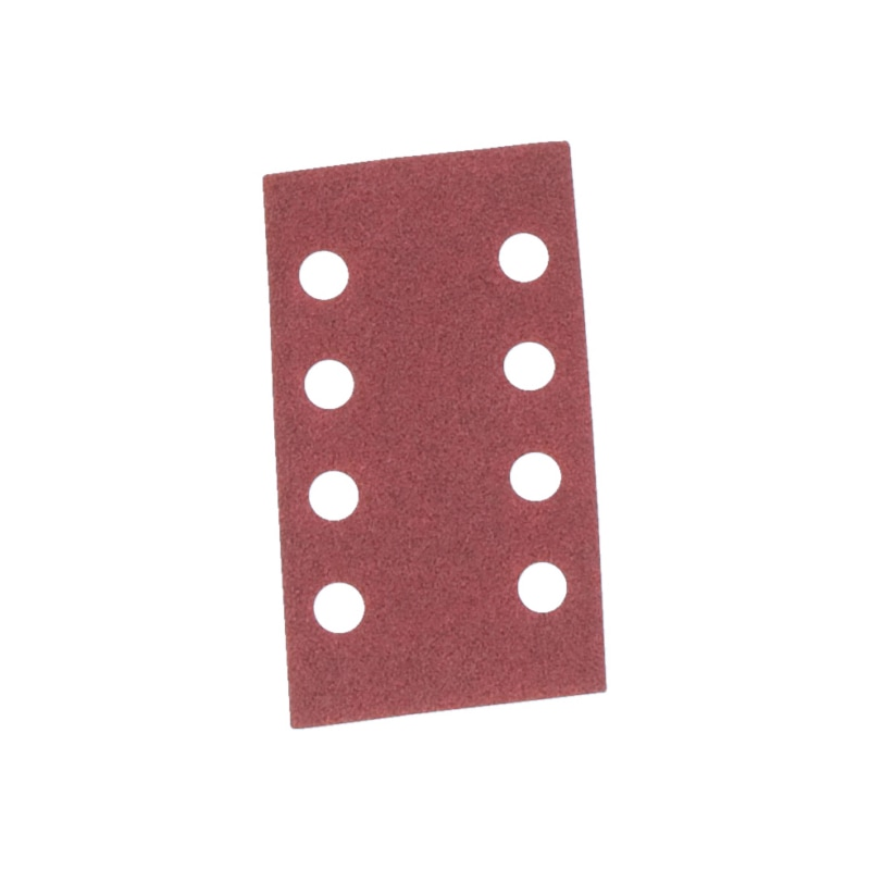 Vehicle dry sandpaper strip red perfect<SUP>®</SUP> - DSPAP-HOKLP-8HO-P80-70X125MM