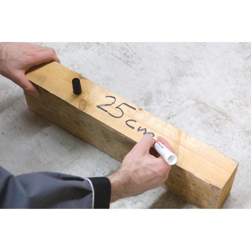 Marcador de tinta para massa - MARCADOR SOLIDO SUPERF DIFICEIS PR 10MM