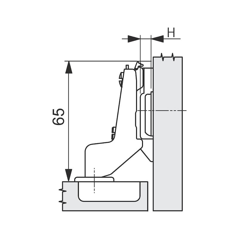 Concealed hinge, Nexis Impresso 100 - HNGE-NEXIMP-52/5,5-INRT-(NI)-100DGR