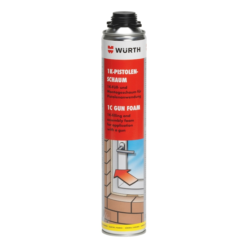 Mousse de montage pistolable monocomposant - MOUSSE MONTAGE PU 750ML - PISTOLABLE