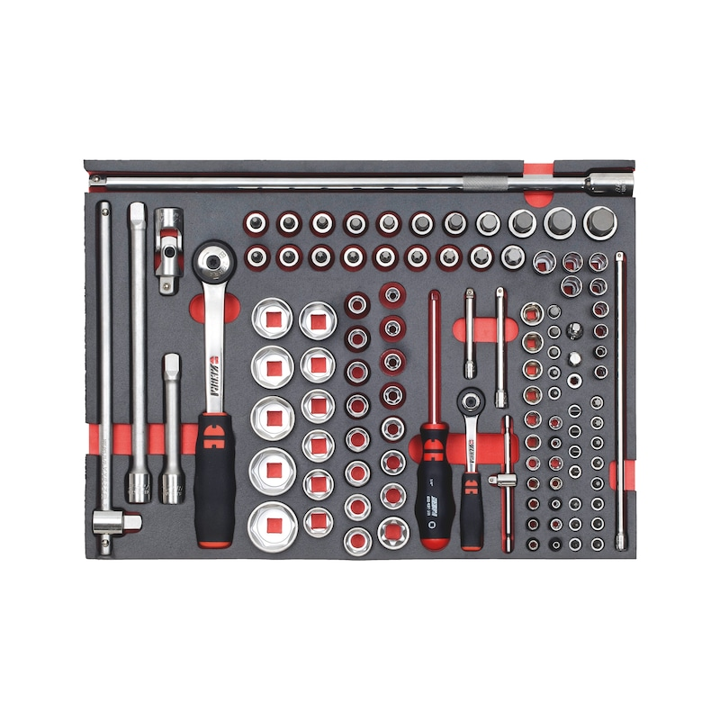 1/4 inch + 1/2 inch tool assortment - TL-SET-MIX-SOCKETWRENCH-BMOP-109PCS