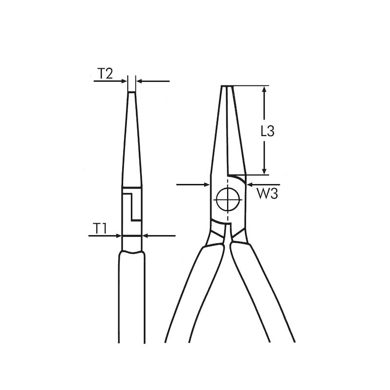 Pinza a becchi mezzotondi VDE DIN ISO 5745, IEC 60900 - 2