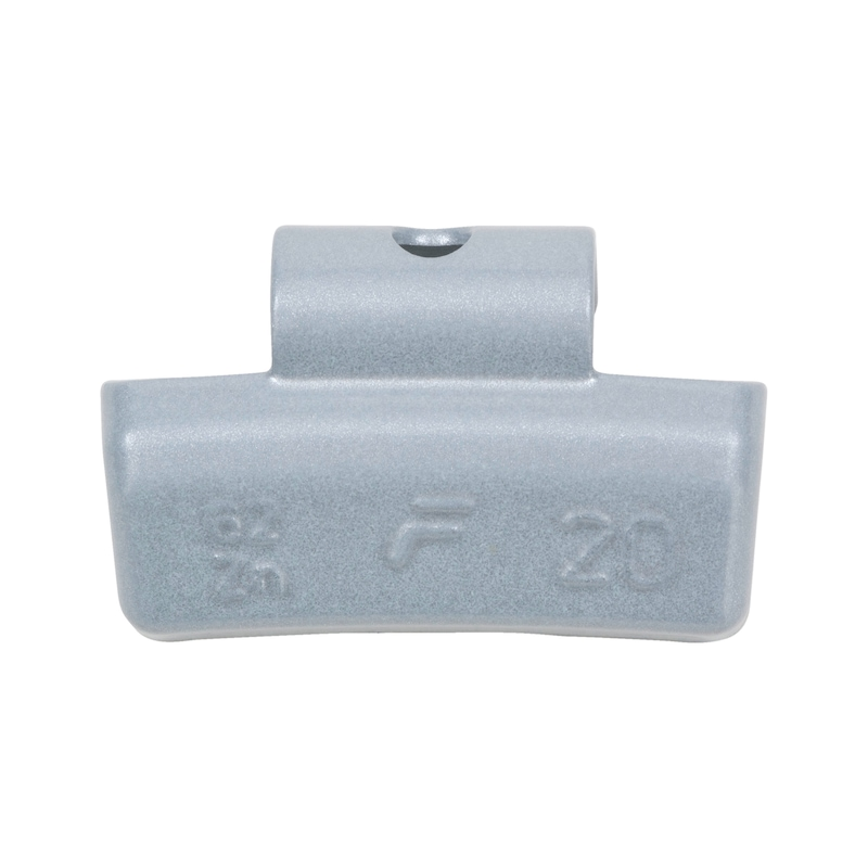Zinc impact balance weight for car aluminium rims - BAW-62Z-ZINC-ALURIM-COAT-25G