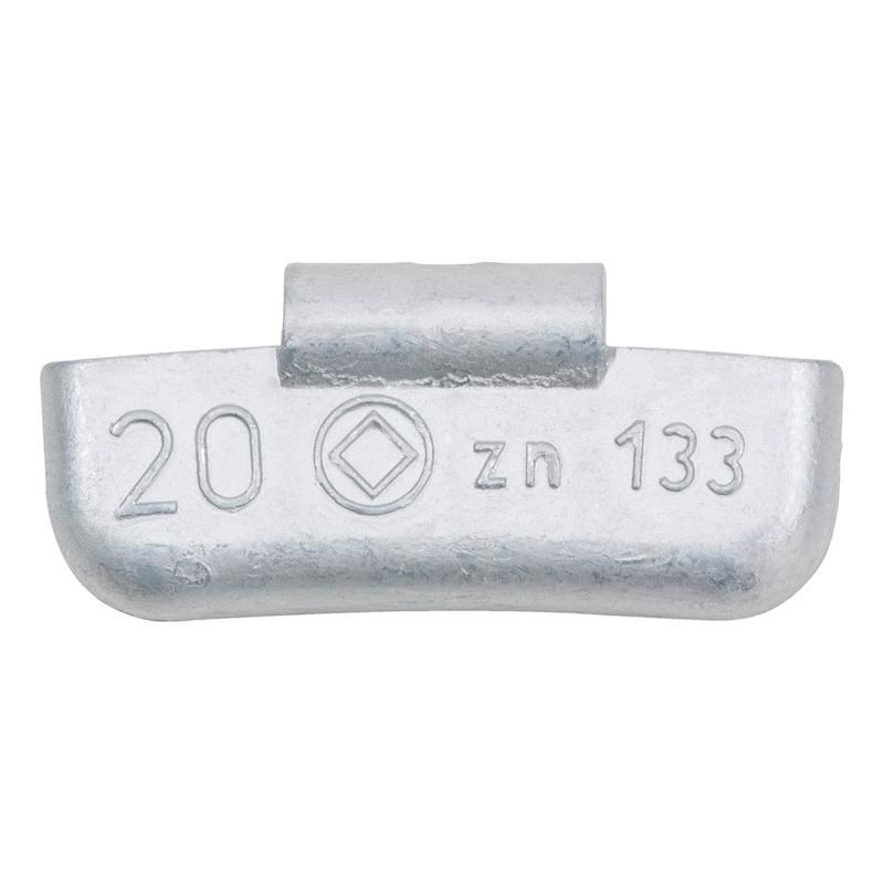 Zink-Schlagauswuchtgewicht für Pkw-Stahlfelgen