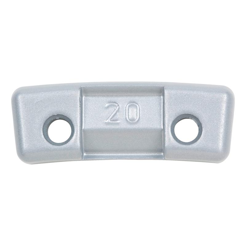 Zinc safety spoke weight, Mercedes Benz - BAW-75Z-ZINC-PLG-MB-COAT-20G