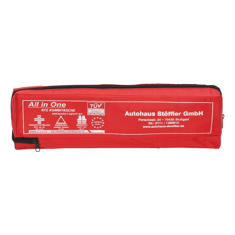 Printed car first aid bag, three pieces - 1