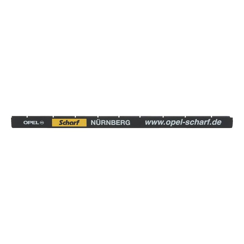 Leiste für Kennzeichenbefestigung  Classic bedruckt - KSB-BEDR-LEISTE-CLASSIC-2FARBIG