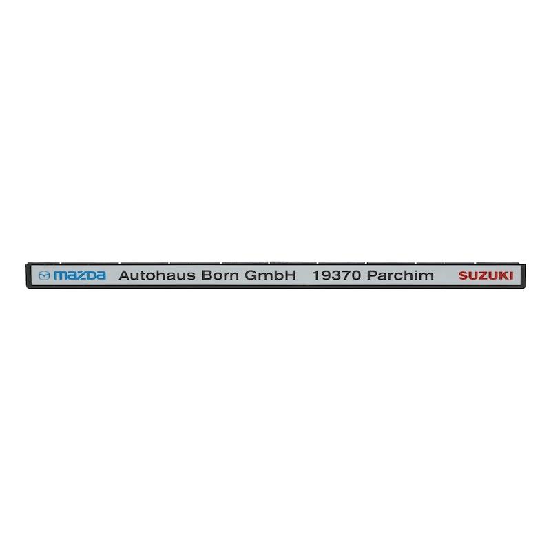 Leiste für Kennzeichenbefestigung  Classic bedruckt - KSB-BEDR-LEISTE-CLASSIC-3FARBIG