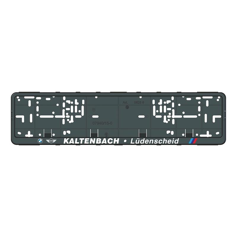 Kennzeichenbefestigung Klapp-Fix plus bedruckt - KSB-BEDR-(KLAPPFIX-PLUS)-4FARB-520MM