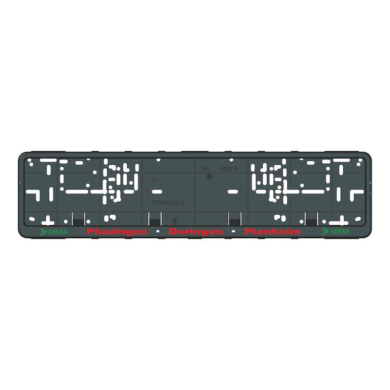 Kennzeichenbefestigung Klapp-Fix plus bedruckt - KSB-BEDR-(KLAPPFIX-PLUS)-3FARB-520MM