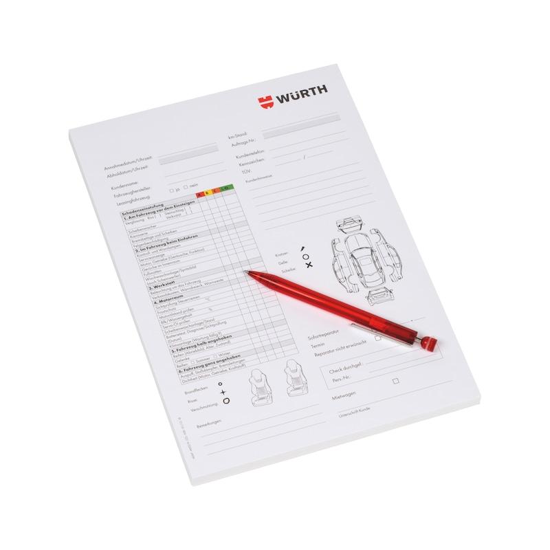 Service reception checklist