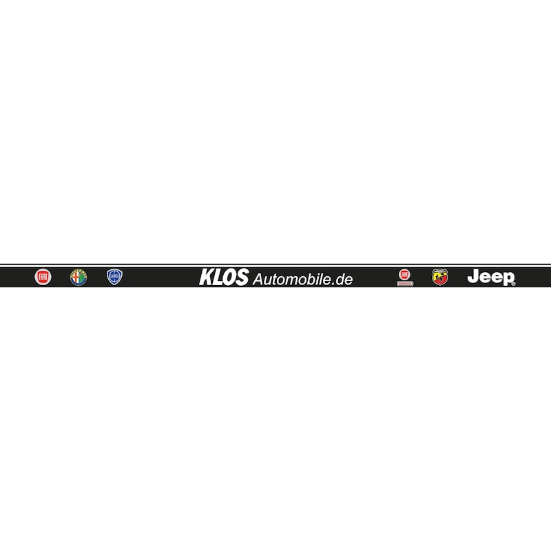 Strip for number plate holder Clipster, printed - NPH-PRNT-STRIP-CLIPSTER-7COLOURED