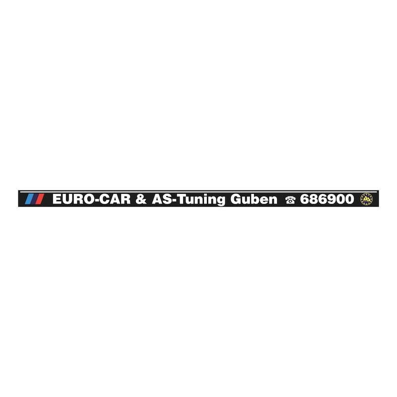 Strip for number plate holder Circo, printed - NPH-PRNT-STRIP-CIRCO-5COLOURED