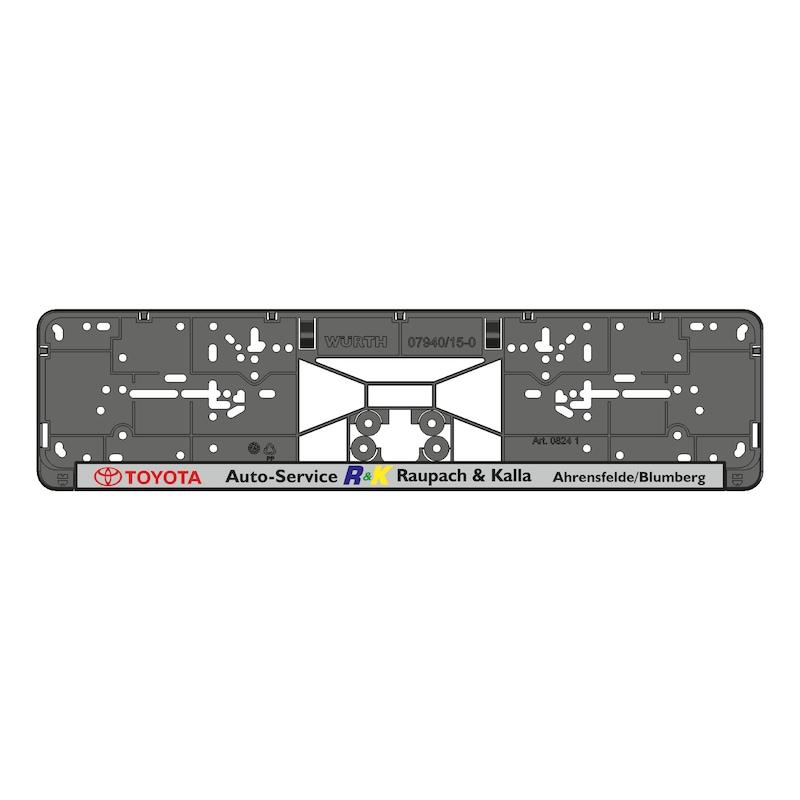 Kennzeichenbefestigung Clipster komplett bedruckt - KSB-KOMPL-PL/LST-5FARB-CLIPSTER-520MM
