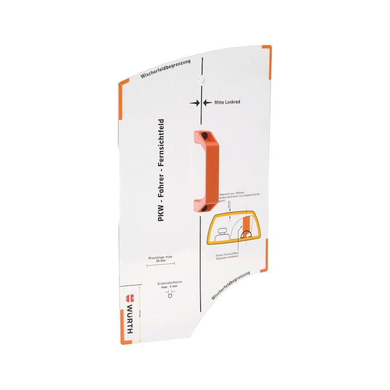 Steinschlagreparatur-Lehre - ZB-LEHRE-SHBREP-STNSHLGREP-L500XB290XH45