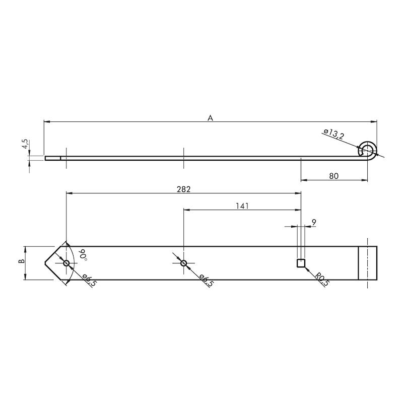 Ladenband  - LABA-ST-(ZN)-GELB-D13MM-400X40MM