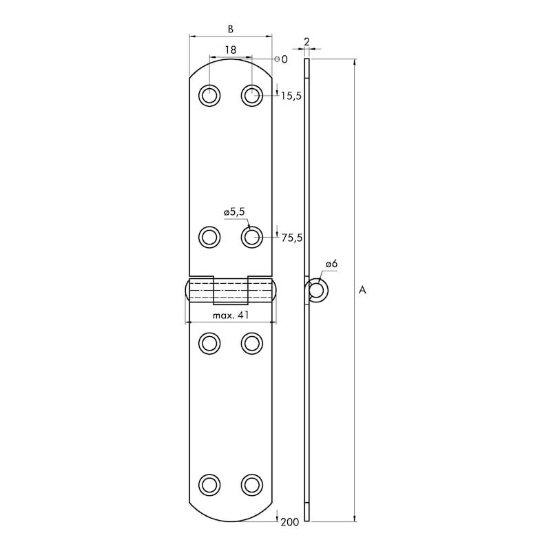 Französisches Kistenband - KISTBA-FRANZ-A2-200X35MM