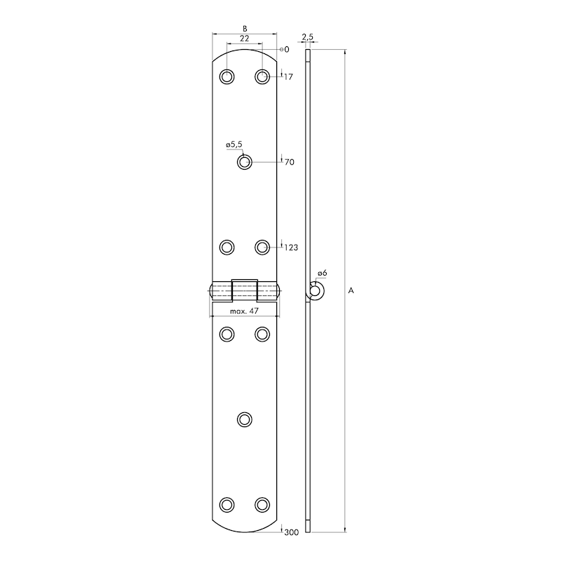 Französisches Kistenband - KISTBA-FRANZ-ST-(ZN)-BLAU-300X40MM