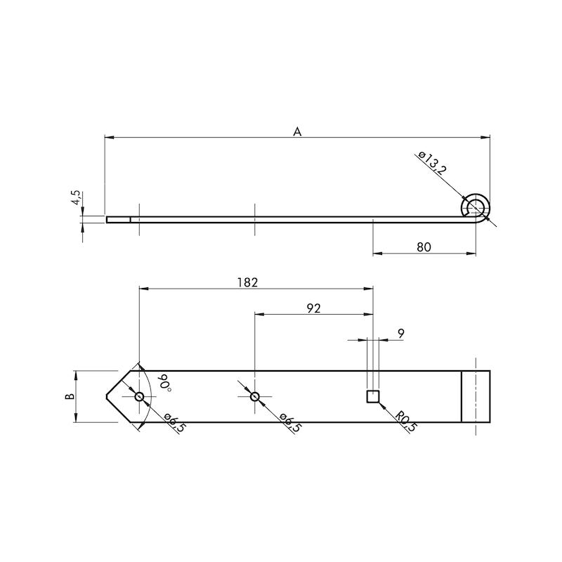 Ladenband  - LABA-ST-(ZN)-GELB-D13MM-300X40MM