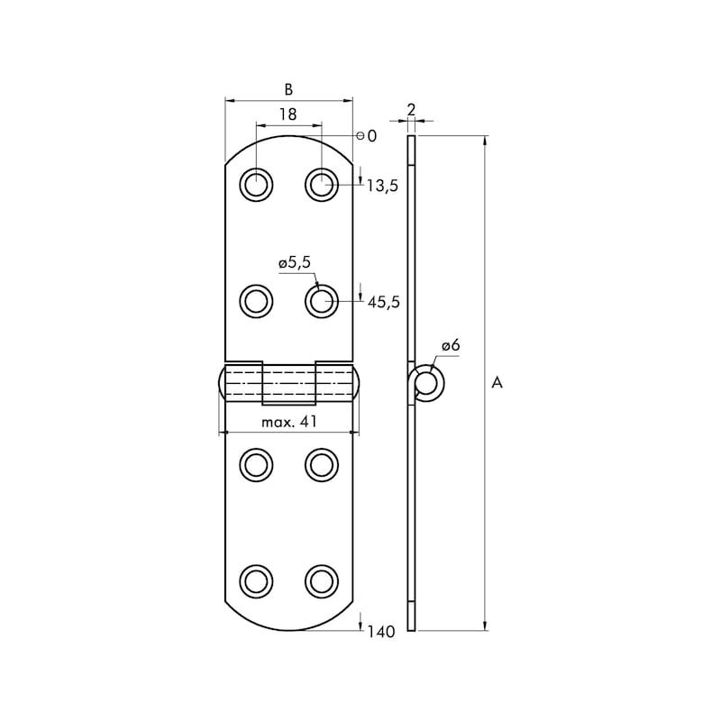 Französisches Kistenband - KISTBA-FRANZ-ST-(ZNG)-140X35MM