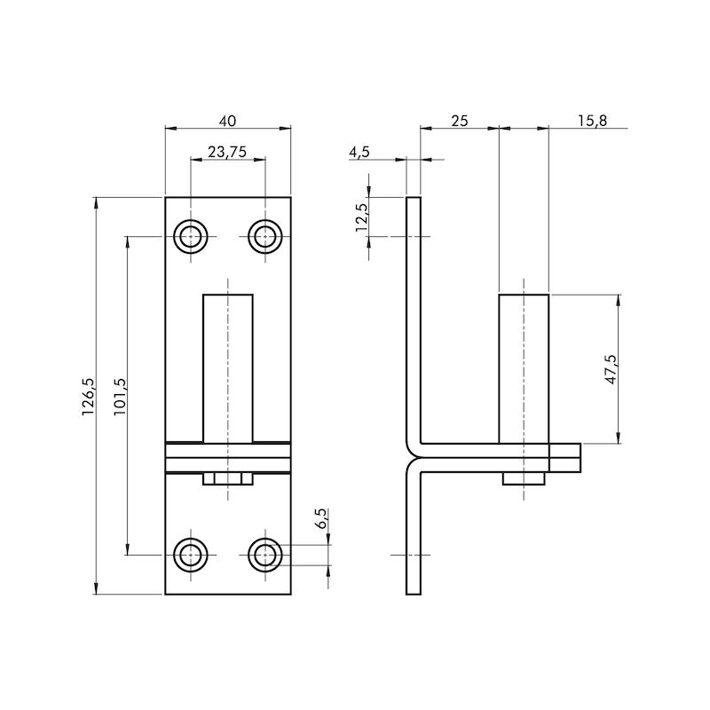 Kloben - TRKLOB-2-ST-(ZN)-BLAU-D16MM-127X40