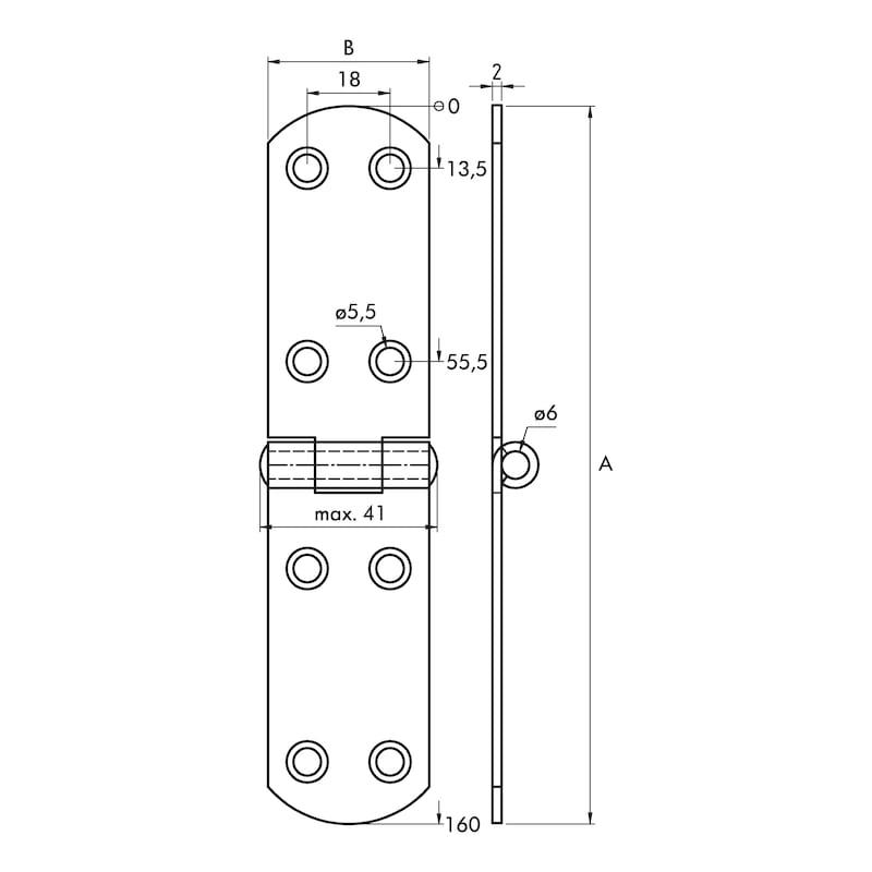 Französisches Kistenband - KISTBA-FRANZ-ST-(ZN)-BLAU-160X35MM