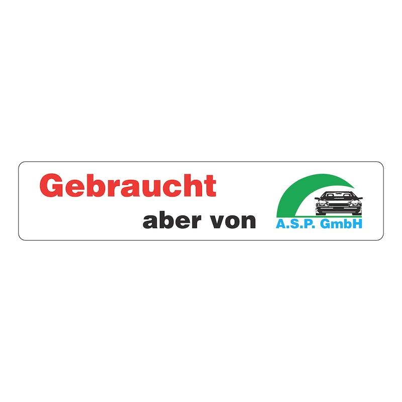Werbeschild bedruckt - WERBESHLD-BEDR-WEISS-4FARBIG