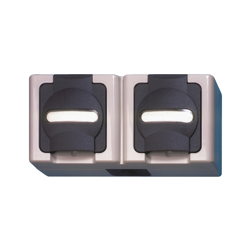 ELMO<SUP>®</SUP> AP-Feuchtraum Schutzkontakt-Steckdose - 1