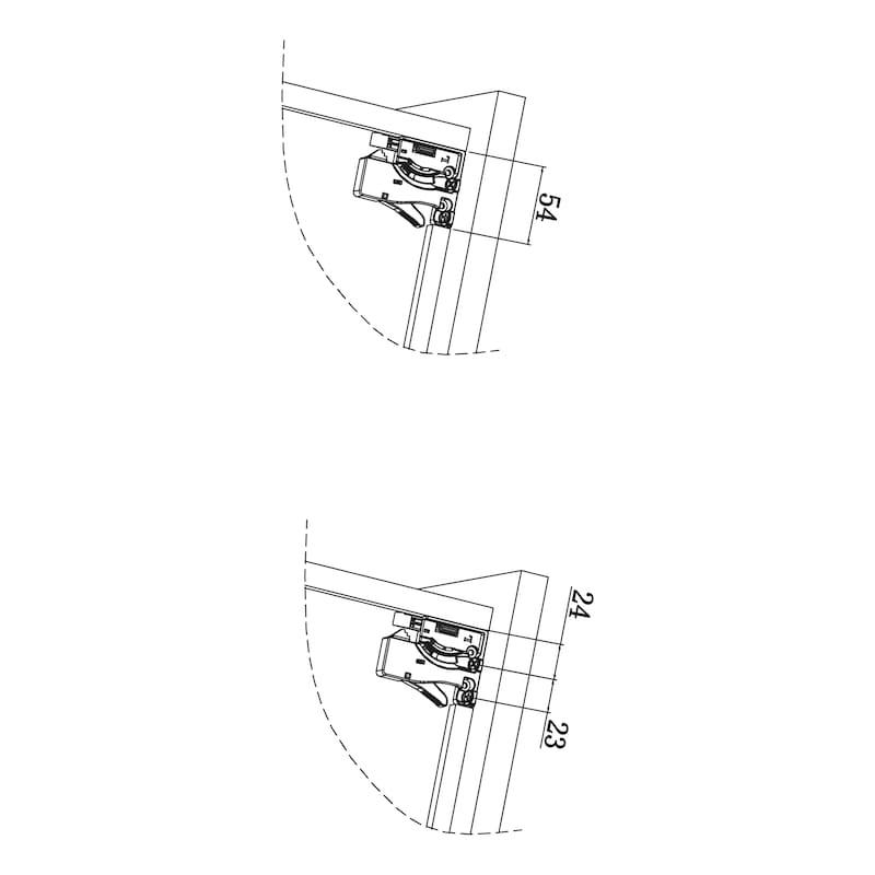 Corrediça oculta de extração total  Ecoslide - 5