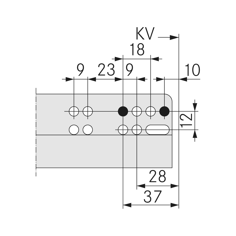 Unterflurführung Vollauszug Dynamoov Tipmatic 30 kg - 7