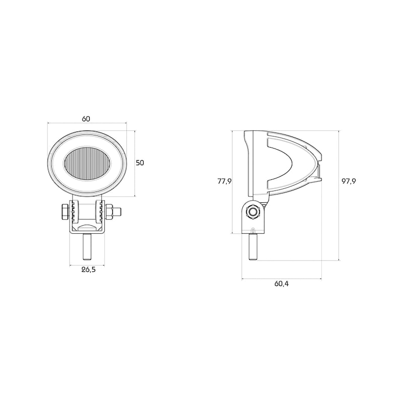 LED-Arbeitsscheinwerfer Mini 12 V/36 V - 2