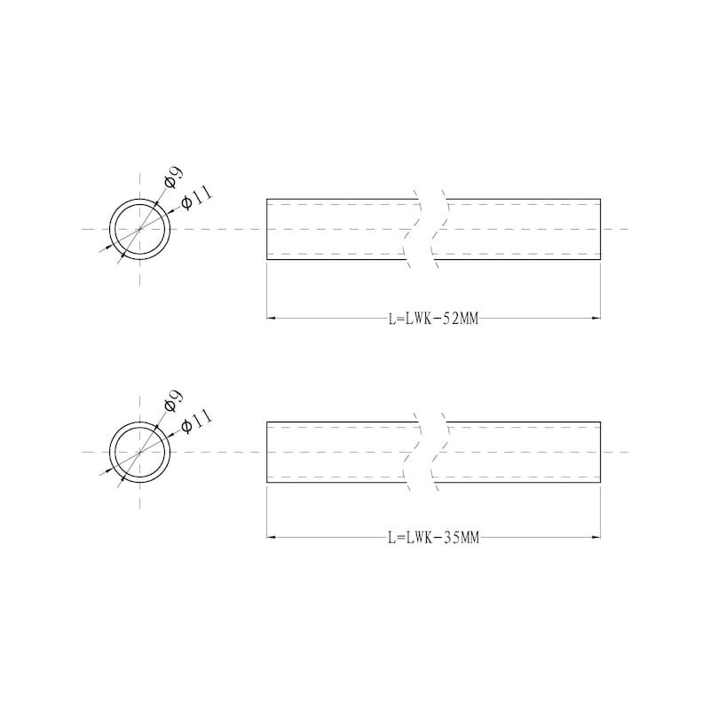 Reling - ZB-RELING-SLIDEBOX-1080MM-GRAU
